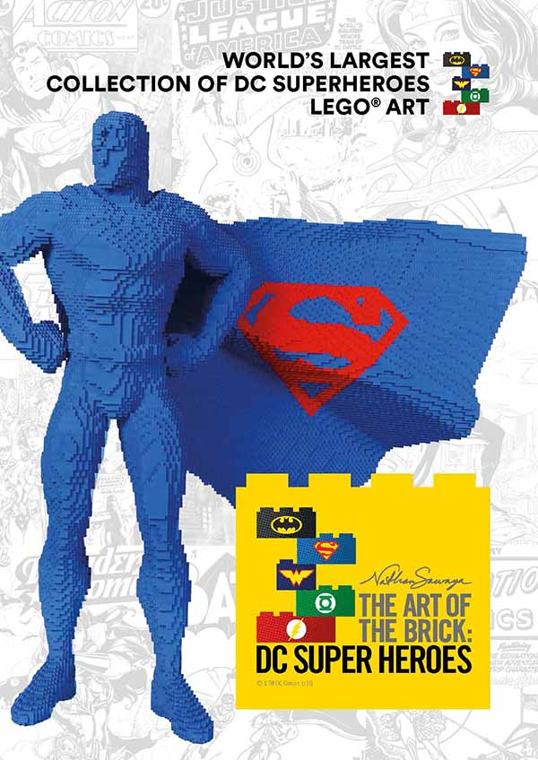 Poster the art of the brick dc super heroes